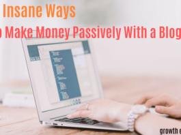 Make money with a blog passivelyMake money with a blog passively